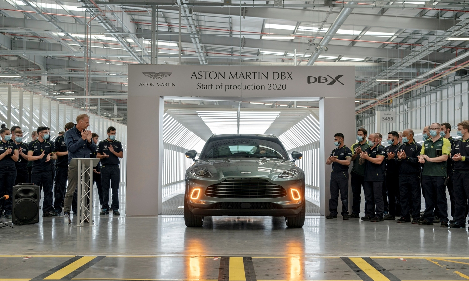 Aston Martin DBX start of production 2020