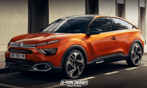 Citroen C4 Coupé render by X-Tomi Design