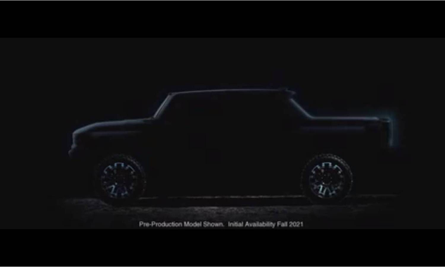 GMC Hummer EV Pick Up side teaser