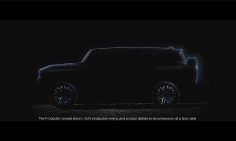 GMC Hummer EV SUV side teaser