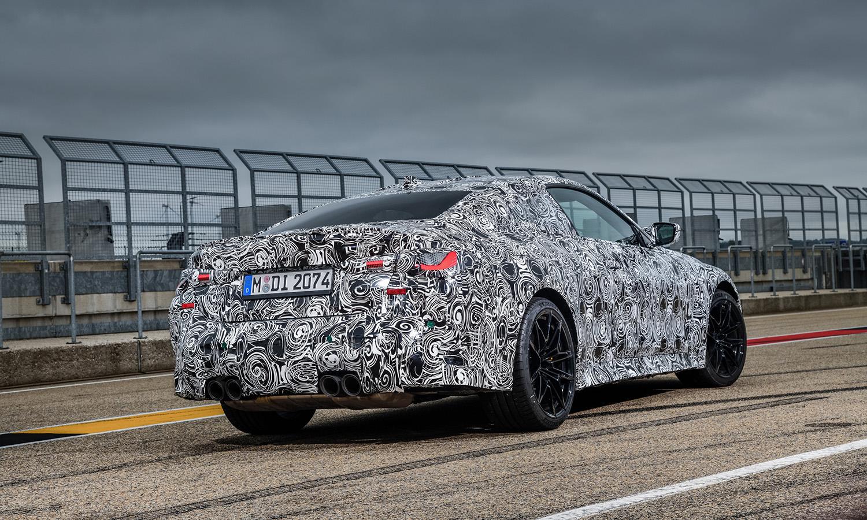 BMW M4 trasera camuflado