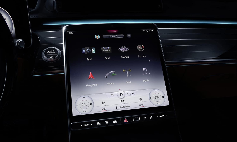 Nueva pantalla MBUX Mercedes Clase S