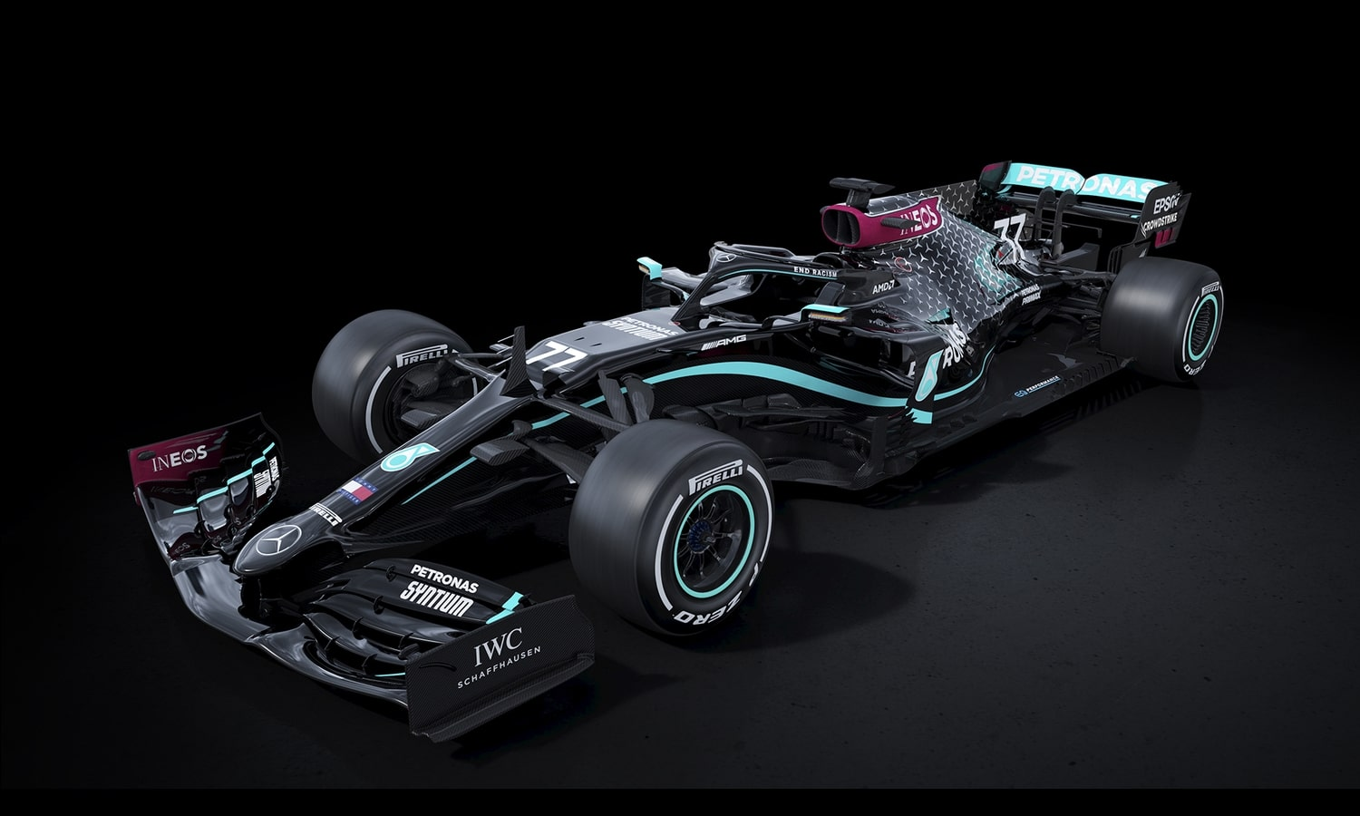 Mercedes decoración negra 2020