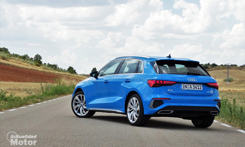 Prueba Audi A3 perfil trasero