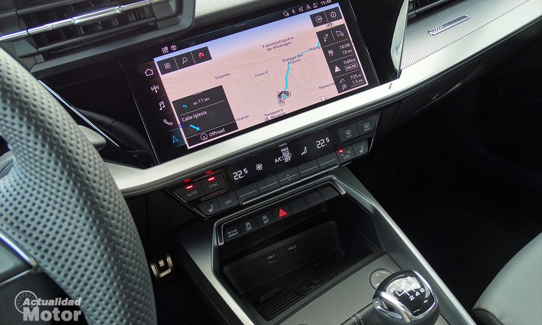 Prueba Audi A3 pantalla y climatizador