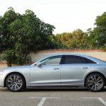 Prueba Audi A8 vista lateral