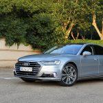 Prueba Audi A8 60 TFSIe perfil delantero