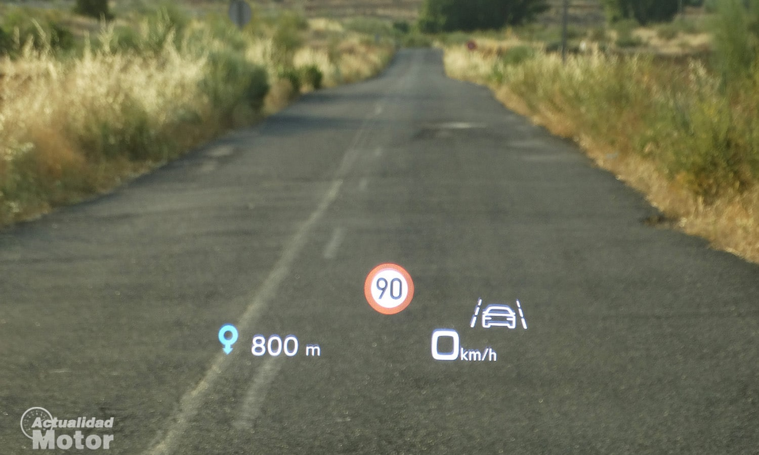 Prueba Audi A8 60 TFSIe head up display
