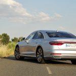 Prueba Audi A8 perfil trasero