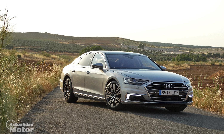 Prueba Audi A8 perfil delantero