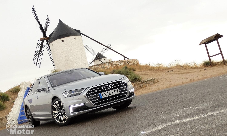 Prueba Audi A8 60 TFSIe parte delantera