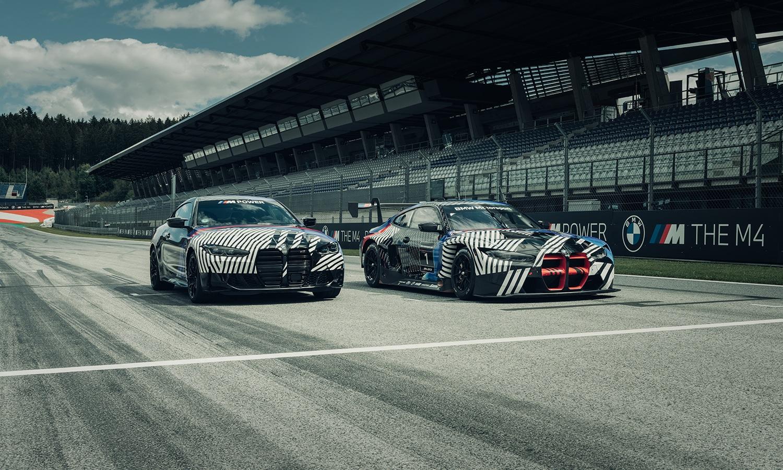 BMW M4 y BMW M4 GT3 camuflados