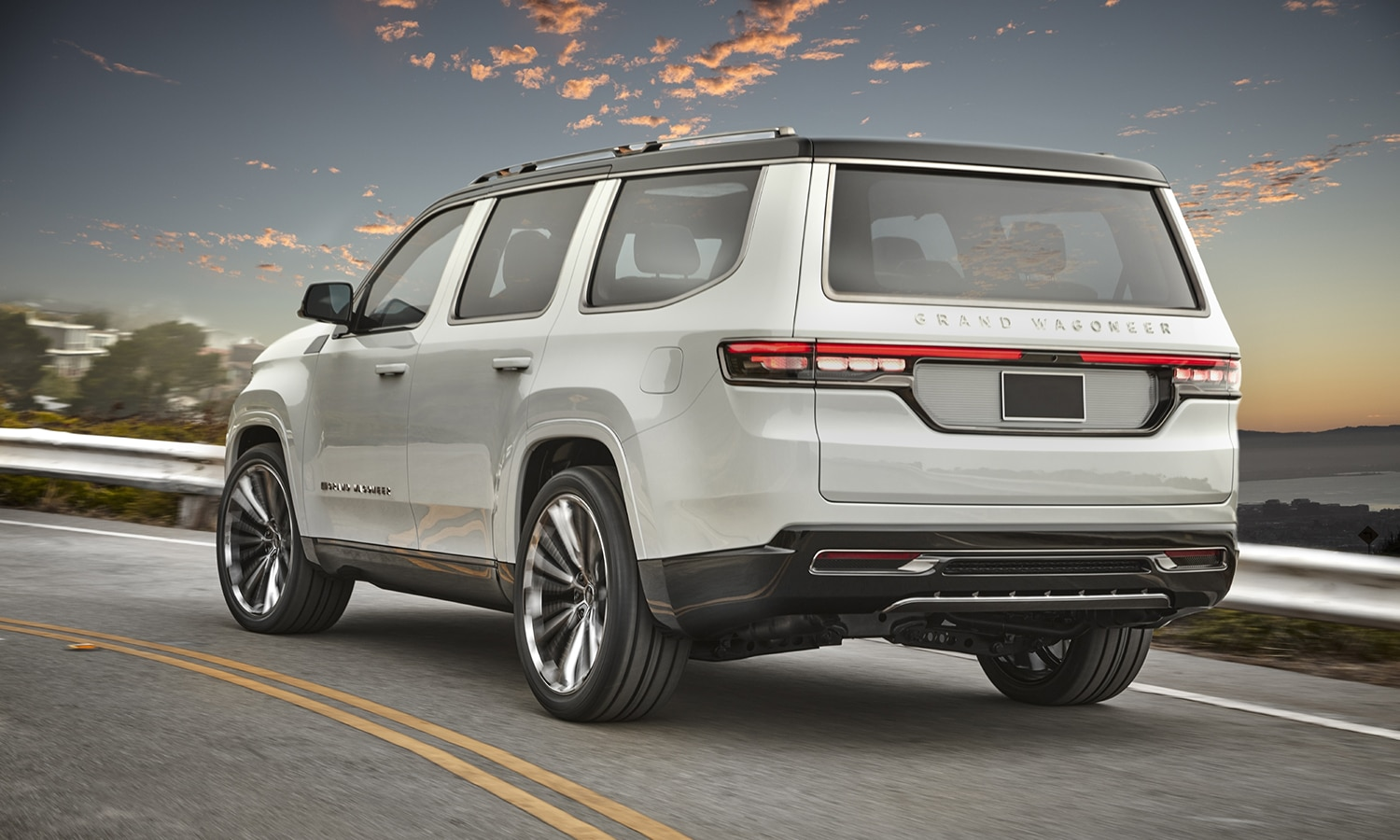 Jeep Grand Wagoneer Concept trasera