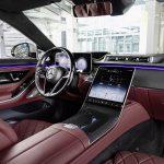 Mercedes Clase S interior rojo