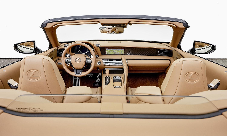 Interior Lexus LC 500 Cabrio