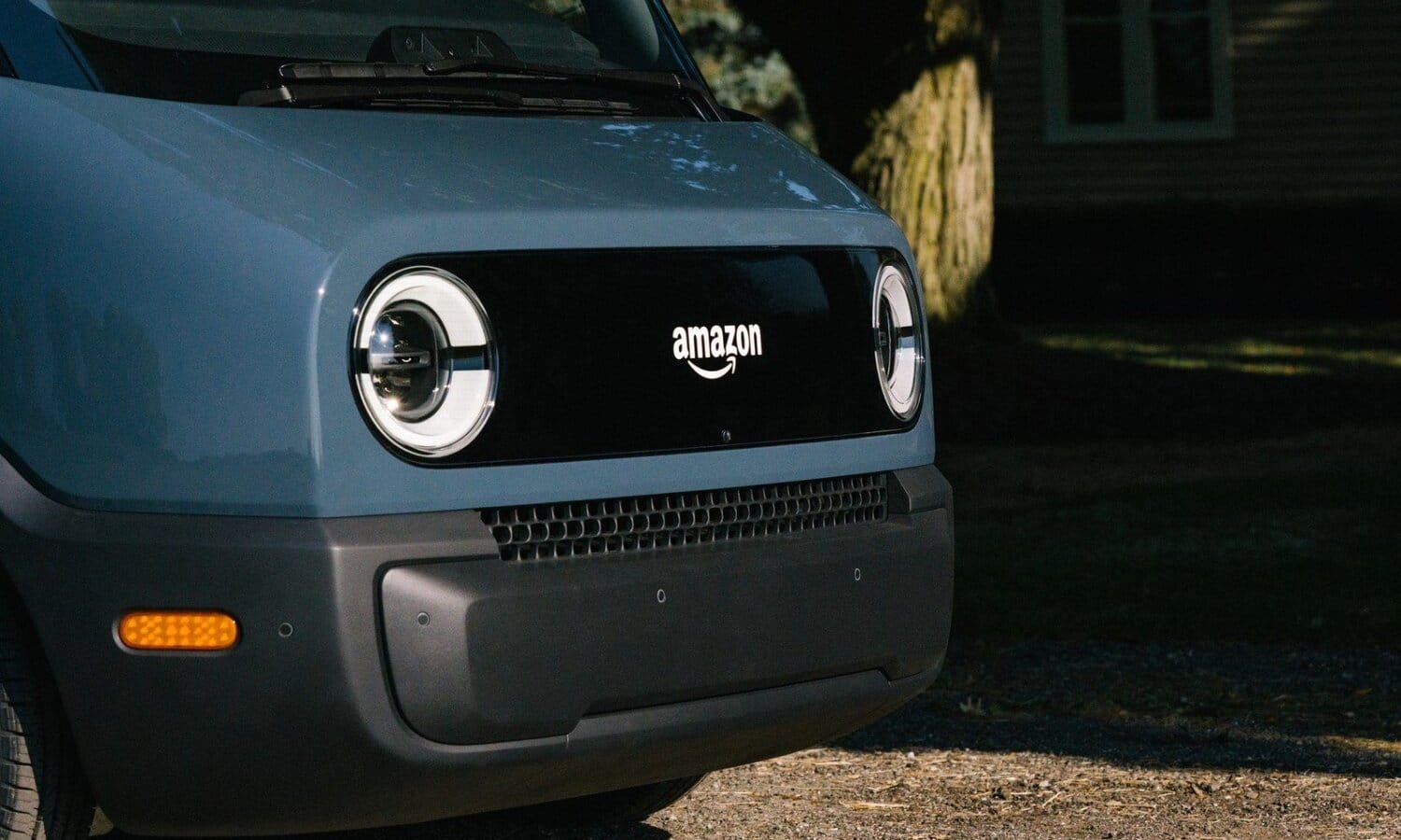 Amazon Rivian electric truck front