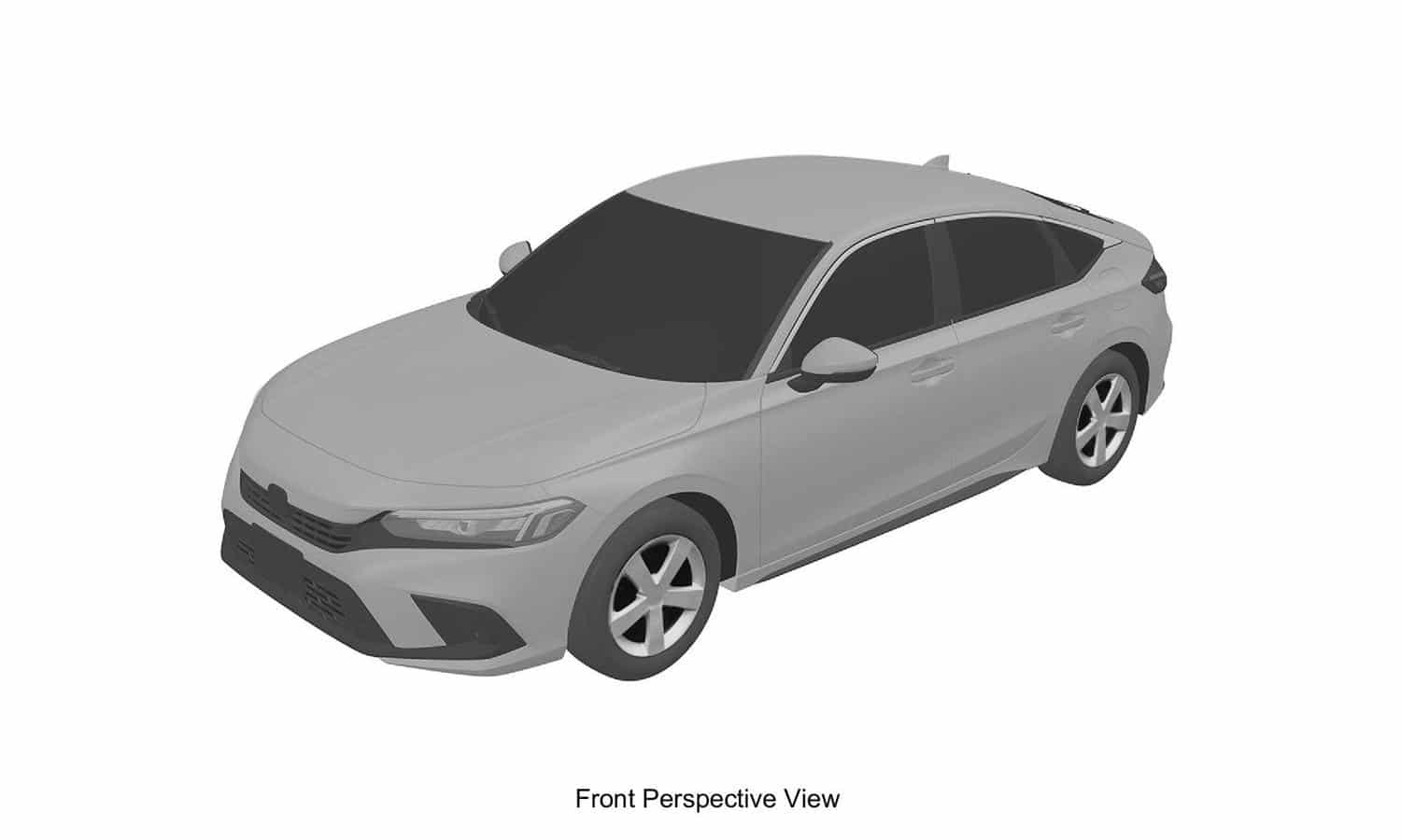 Honda Civic Hatchback 11th Gen 2022 patent