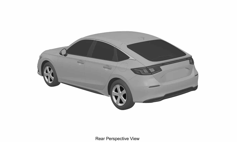 Honda Civic Hatchback 11th Gen 2022 patent