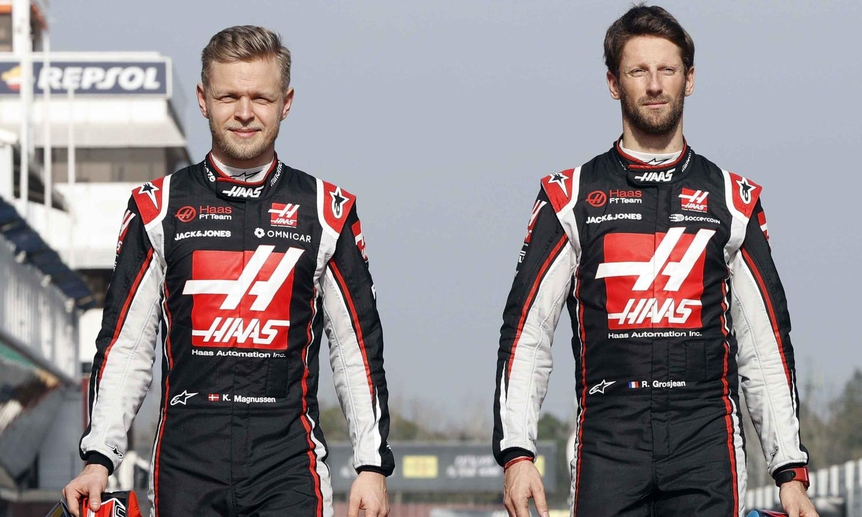 Kevin Magnussen, Romain Grosjean F1 Haas