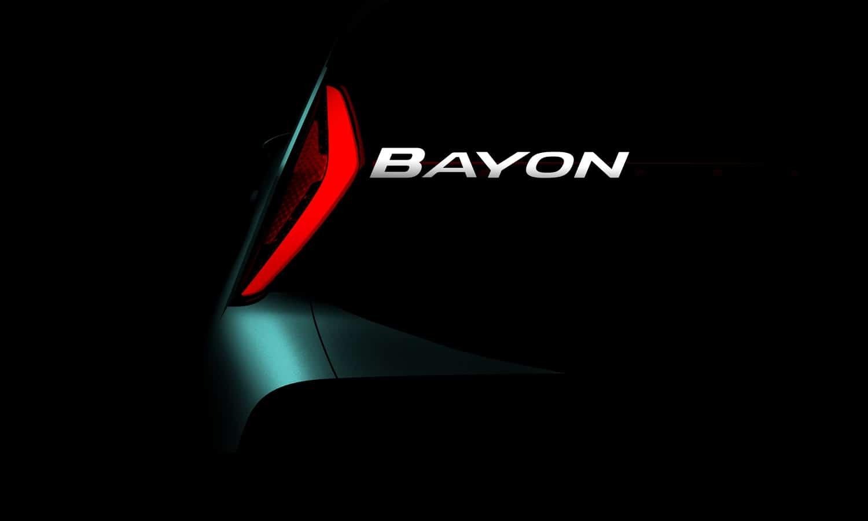 Hyundai Bayon CUV naming teaser