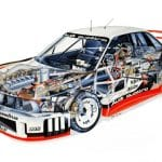 Mecánica del Audi 90 quattro IMSA GTO