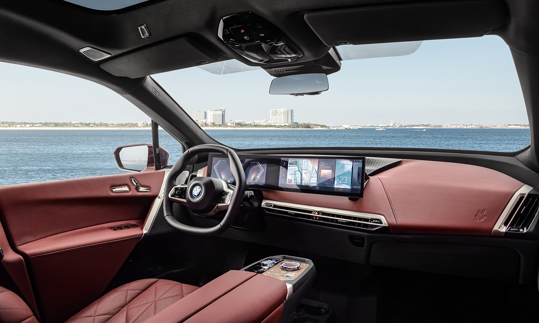 Interior del BMW iX M Sport
