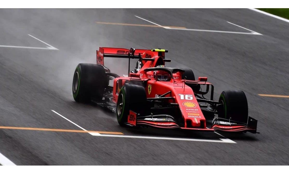 Charles Leclerc Ferrari, lluvia