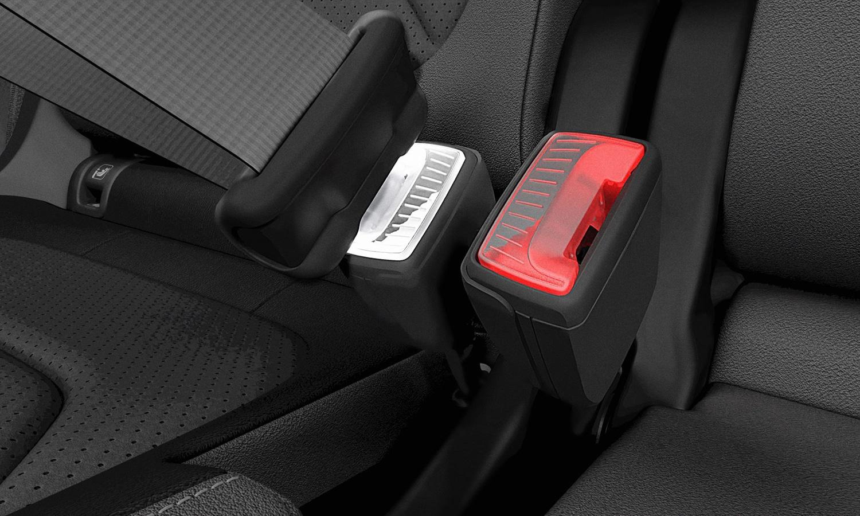 Hebilla cinturón seguridad iluminada