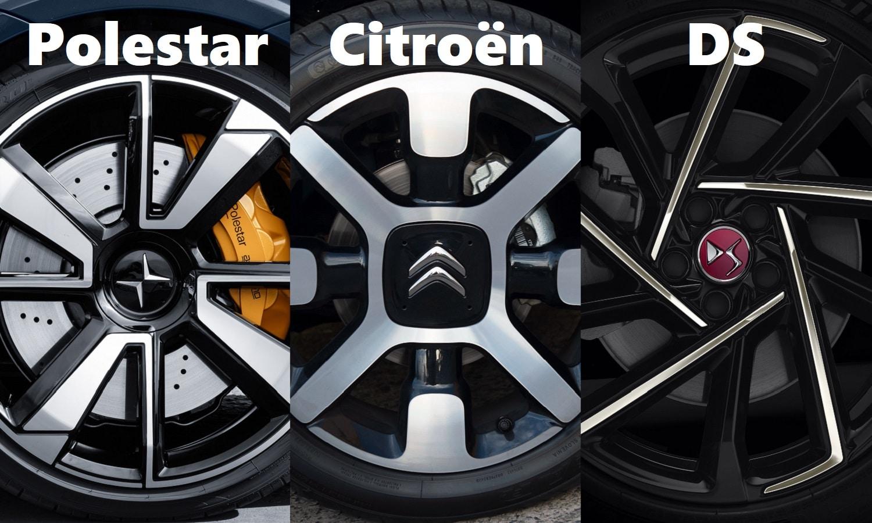 Logos de Polestar, Citroën y DS