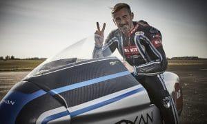 Max Biaggi Récord velocidad moto eléctrica