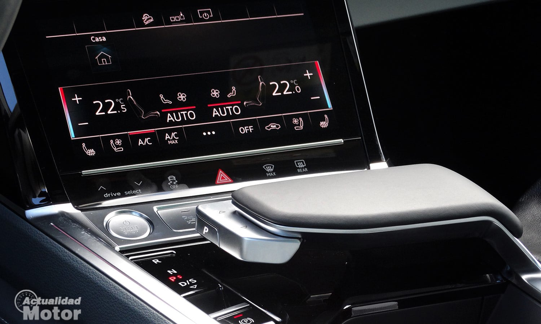 Pantalla Audi e-tron climatizador