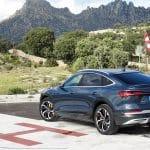 Prueba Audi e-tron Sportback perfil trasero