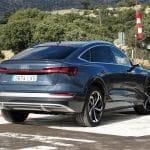 Audi e-tron Sportback perfil trasero