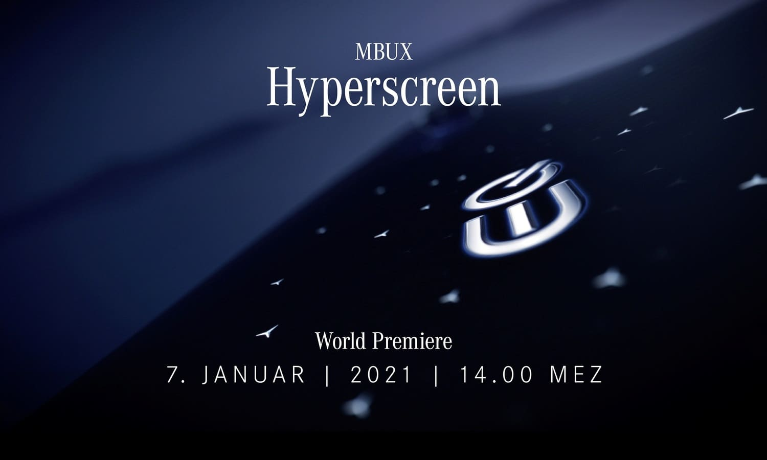 An impressive start to the new year Mercedes-Benz unveils the MBUX Hyperscreen