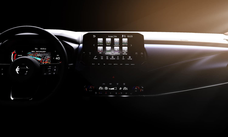 Nissan Qashqai 2021 interior teaser