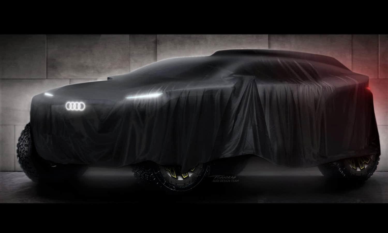 Teaser del coche eléctrico de Audi en el Dakar 2022
