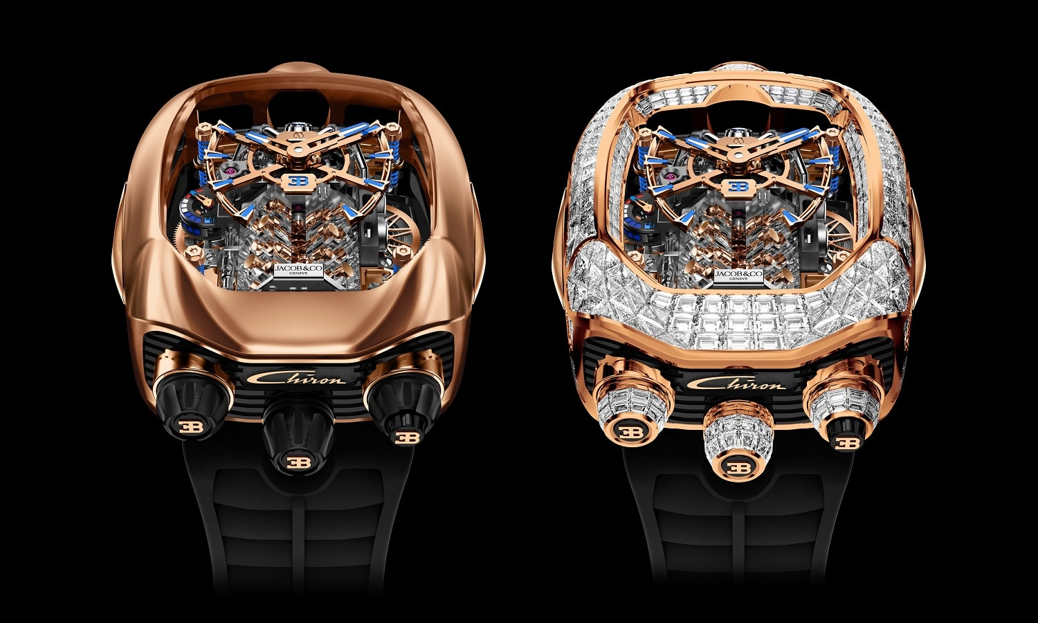 Jacob & Co. Chiron Tourbillon de oro rosa