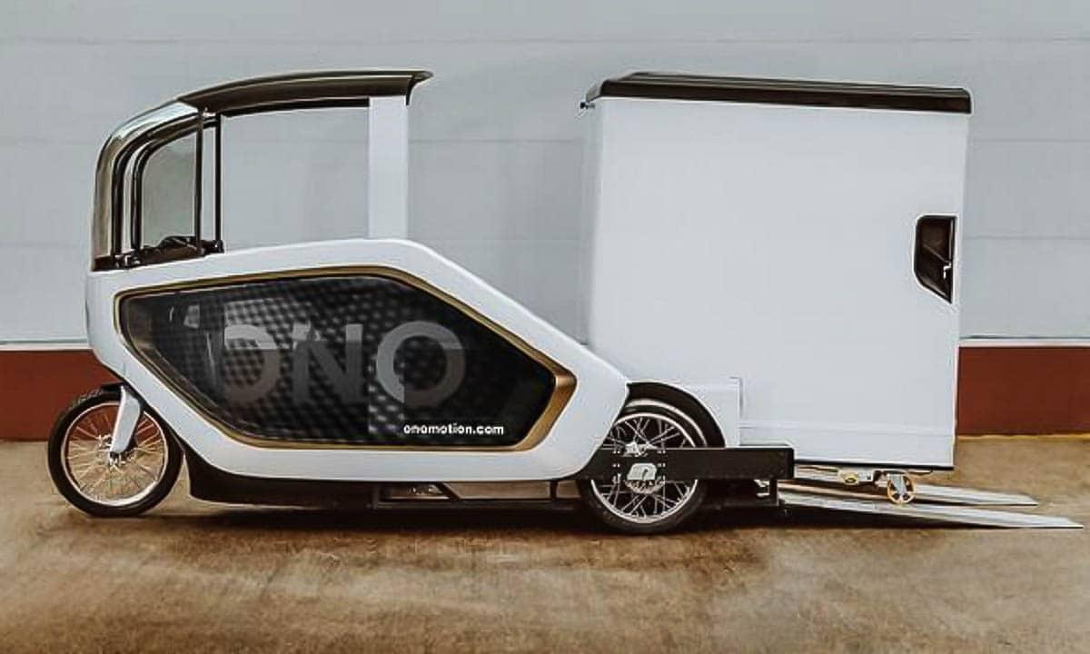Contenedor extraíble de la bicicleta eléctrica de carga Ono Motion