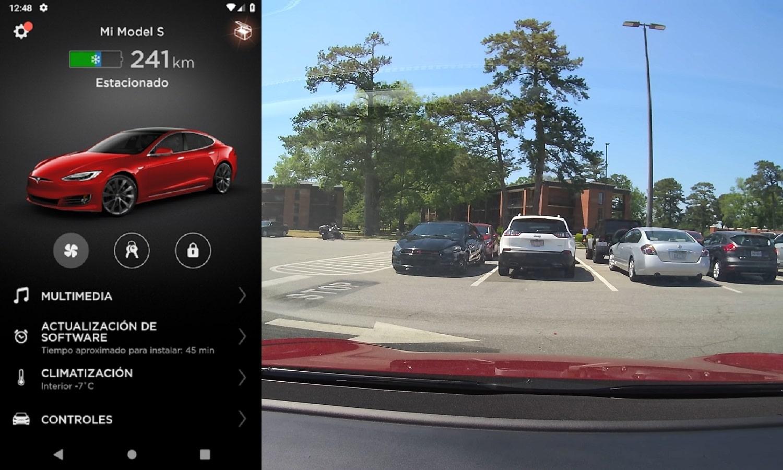 Cámara de vigilancia de los coches de Tesla