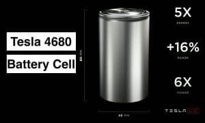 Celdas 4680 para baterías Tesla