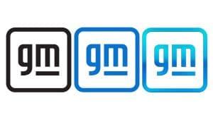 General Motors (GM) Brandmark 2021 black - blue - gradient