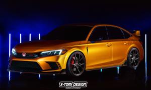 Honda Civic Type R render by X-Tomi Design