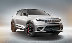 Jeep Baby SUV render based on Jeep Grand Wagoneer by KDesign AG front