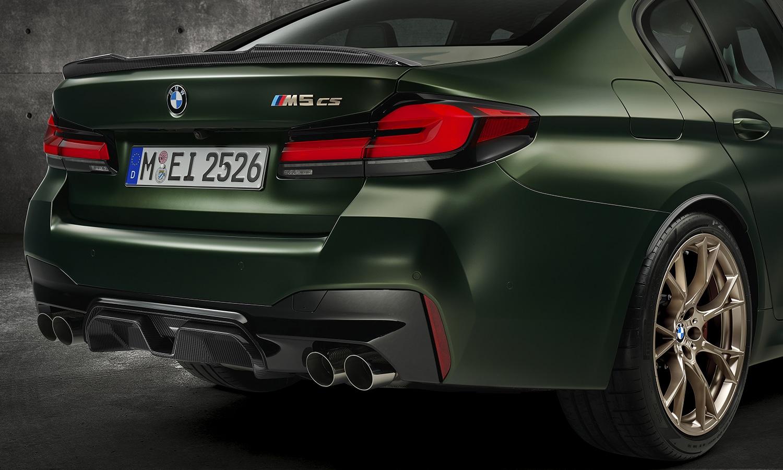 BMW M5 CS pilotos traseros