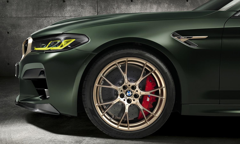 BMW M5 CS faros y llantas forjadas