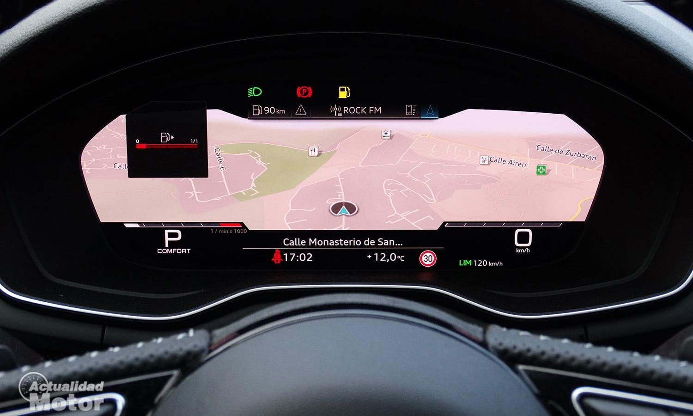 Prueba Audi S5 TDI cuadro instrumentos