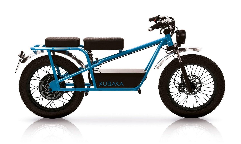Moto eléctrica Xubaka en color azul