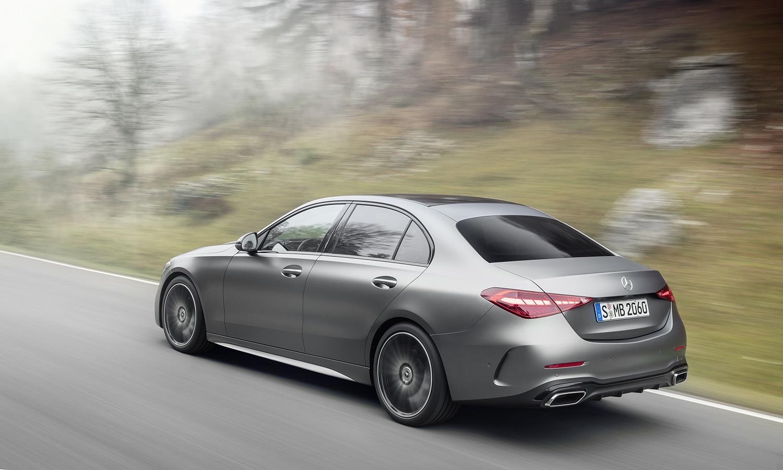 Mercedes Clase C perfil trasero