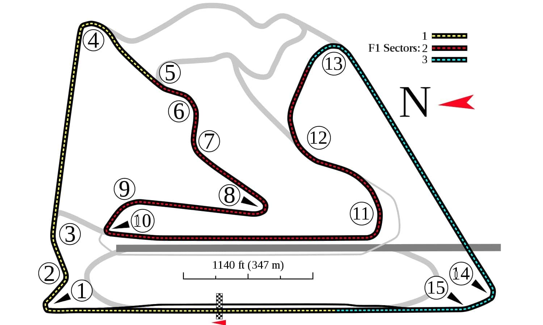 GP de Baréin F1 circuito
