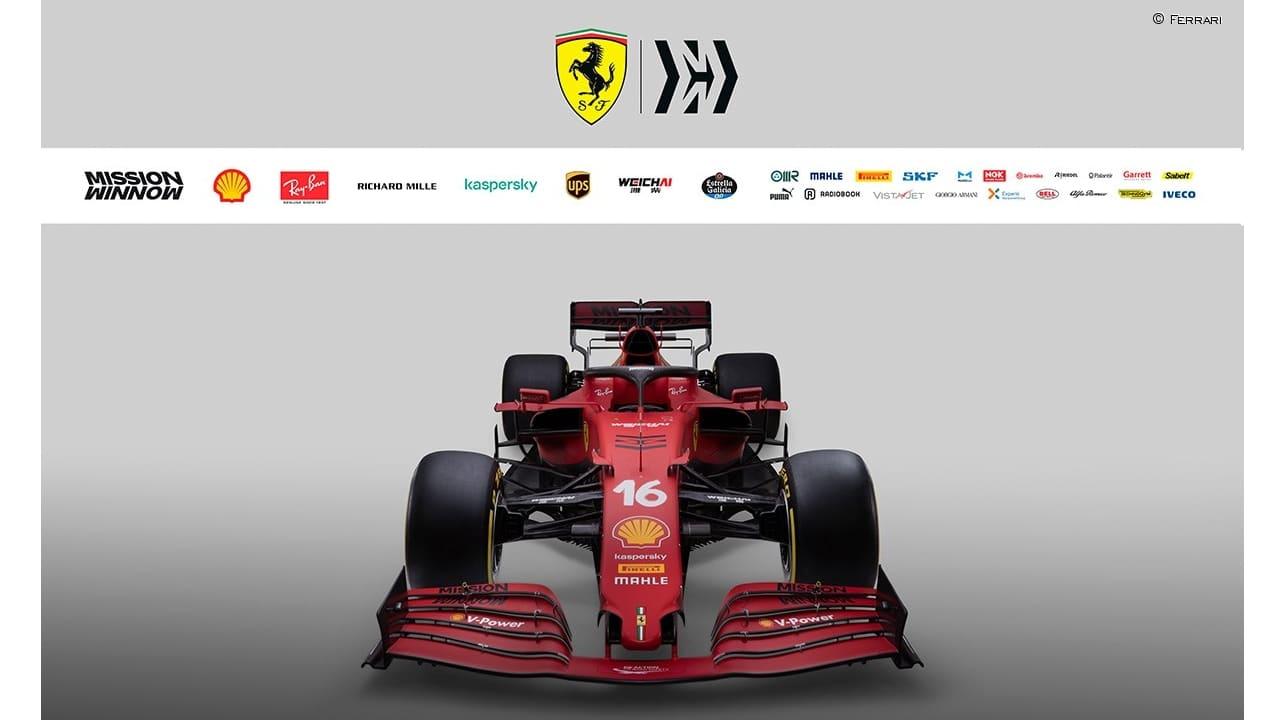 delantera Ferrari F1 2021